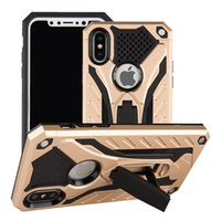 Wholesale Cellphone Mate - For iphone 8 x Hybrid armor case For Huawei mate 9 pro shockproof cellphone case with kickstand Layer Protector cover B