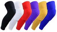 1pc Honeycomb Kneepad Crashproof Sports Safety Manga da perna Knee Support Pad Brace Protector for Sport Gym Basketball fast shipping