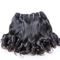 Wholesale tips for black hair online - High quality natural color virgin european hair unprocessed funmi hair weft tip curls for black women