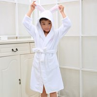 Wholesale Christmas Hooded Towels - Kid's Hooded Bathrobe Christmas Pajamas Children Bathrobes Kids Bathrobe for Girl and Boy 100% Colour Cotton Towels Robe