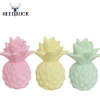 Wholesale Fruit Tables - Wholesale- 2017 Newest Lamp Ananas Led Nightlights Yellow Pineapple Night Lamp Baby Pillow Children Bedside Decorate Led Light Table Lamps