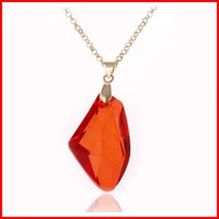 Wholesale Philosopher Stone - HP Potter and the Sorcerer's Stone Red Philosophers Stone Pendant Necklaces for Women Girls fashion Jewelry 160218