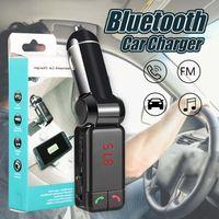 ingrosso porta porta-Caricabatteria per auto BC06 Trasmettitore FM Bluetooth Porta USB doppia in auto Ricevitore Bluetooth Lettore MP3 con vivavoce Bluetooth che chiama nella confezione