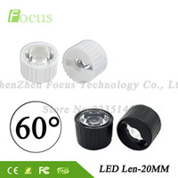 luz len al por mayor-50 sets / lote 1W 3W LED Len 60 Grados Soporte de lentes de alta potencia con cuentas Granos de superficie lisa 20mm Lente PMMA Envío gratis