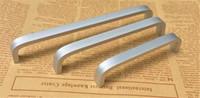 küchenschränke bar großhandel-Neue aluminiumlegierung Wohnmöbel Hardware Küche Schublade Zugknopf Silber Schrank kleiderschrank T bar Griff