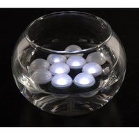 Wholesale Waterproof Mini Switch - Flashing Mini Round Ball Waterproof LED Fairy Pearls Floating Pool Lights for Wedding Party Home Garden Decor 48pcs  lot Free Shipping