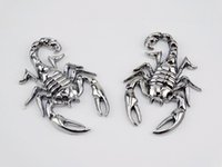 Silver Metal 3D Scorpion 3M Autocollants Autocollants Emblème Badge Motorcycles Tank Fairing