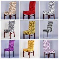 Wholesale Wholesale Dining Room Chair Covers - Short Chair Covers Elastic Force Chair Covers Spandex Slipcovers Chair Covers Home Textiles Dining Room Wedding Party Banquet YW109