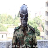 paintball dress - CS Skull Skeleton Full Face Tactical Paintball Protect Safety Horror Mask Halloween Cosplay Dress Mask Jagged horror props
