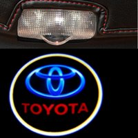 Wholesale Car Shadow Ghost Light - 2pcs car door light ghost shadow welcome light logo projector emblem FOR 07-14 Toyota Land Cruiser 200 V8 FJ200