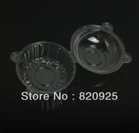 ingrosso supporti per tazze di plastica-Wholesale- 100 X Clear Plastic Individual Cupcake Muffin Cupola Custodie Scatole Scatole Tazze per torte