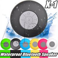 dispositivos de altavoz bluetooth al por mayor-Mini altavoz resistente al agua IPX4 Wirelesss Bluetooth a mano libres de la ducha Altavoces Todos los dispositivos de Samsung S8 portátiles duchas de baño piscina Barco Uso