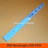 Wholesale Led Aluminum Heatsink - Wholesale- 3 Pcs 8W Rectangle High power Chip PCB Plate Board Aluminum Heatsink for LED Aquarium Light Grow Bar Lamp Plate 280*20mm