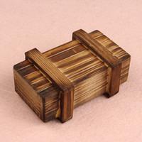 cajas mágicas de madera al por mayor-Al por mayor-Novela Diseños Inteligencia Rompecabezas Mágico Caja de madera Secreto Compartimiento de regalo Cerebro Nuevo