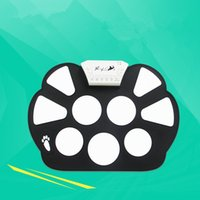 Atacado- New Professional Drum Sticks Portátil Digital USB Electronic Drum Pad Kit Percussão Musical Instrumento Roll-up Drums