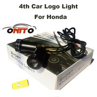 Wholesale Honda Shadows - 4th Car logo Light Emblem Laser Door Bulb Auto Ghost Shadow Lamp For CRV Civic Accord CITY Fit Pilot Crossroad