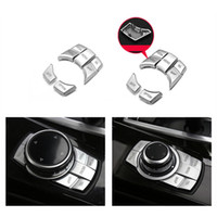 Wholesale Interior Replacement Multimedia Buttons Decoration Cover Trim Sequins For BMW X5 X6 series F10 F30 F20 E70 E71 Car Accessories
