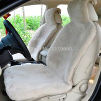 Wholesale Sheepskin Car Cushion - 1 pc car seat covers For Front seat,Cushion Wool Interior Accessories Safety FOR Lada  Focus Kia   toyota Car 100% sheepskin
