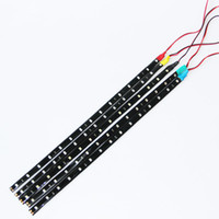 dekoratif şeritler toptan satış-Su geçirmez Araç Oto Dekoratif Esnek Şerit LED Highpower 12V 30cm 15SMD Araba LED Gündüz Işığı 5 renk Koşu