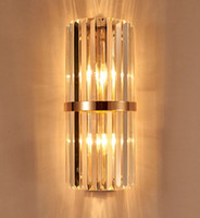 2017 k9 crystal wall sconce bedroom wall lamp with switch sala de estar quarto de jantar levou parede de luz Conference Hall hotel gold crystal MYY