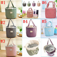 Wholesale Cool Lunch Totes - Lunch Container Bag Picnic Bento Pouch Handbags Thermal Insulated portable Cool Bag Lunch Totes Box bag YYA297