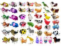 Wholesale Toy Air Balloons - 2017 Express Shipping Walking Pet Balloon Animal Balloon Pets Air Walker Foil Aluminum Birthday Party toys children Foil Toys Zoo Farm Pets