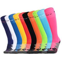 Wholesale Pink Tube Socks - ORKY football soccer socks knee length towel long tube man kid thickening socks women adult children
