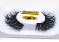 Wholesale Real Mink Fur Lashes - 2017 New 1 pair 3D mink eyelash 100%real mink Fur Handmade lashes individual strip thick Natural lash makeup beuty tool DM26