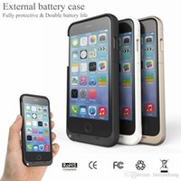 Wholesale Galaxy Power Bank - Power bank iPhone 7plus case external battery case for Samsung Galaxy S7 S6 edge Note 5 iPhone 7 plus