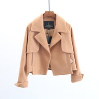 Wholesale Cashmere Short Coats For Women - Autumn Winter Baisc Coat Women Elegant Coats for Long Sleeve Open Front with Pocket Short Clothing