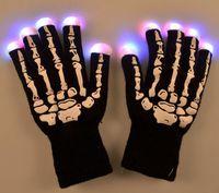 Wholesale Yoga Toy - sports LED Skeleton Gloves Light Up Shows Light Up Knit Gloves Light Show Gloves for Party Birthday Halloween Costume Novelty Toy