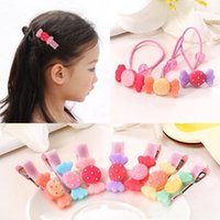 Wholesale Indian Bang Wholesale - Children's hair candy colored resin ring rubber band Tousheng baby girls hair bangs Chuck Accessories