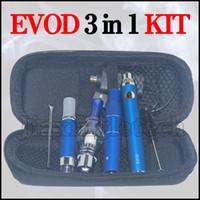 Wholesale G5 Vaporizer Wax - Magic 3 in 1 Vaporizer Pen Kit Wax Dry Herb Ago G5 E Cigarettes MT3 Glass Globle Atomizer EVOD battery 900mah Starter Kits