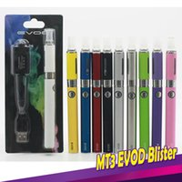 Wholesale mt3 ego kit blister - MT3 EVOD Blister Kits Mt3 Atomizer Evod Battery Ego Evod Kits 650mah 900mah 1100mah Battery Clearomizer E Cigarette Kits