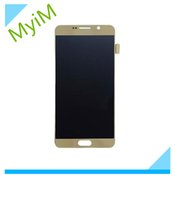 Wholesale Note Full Lcd - Full Original For Samsung Galaxy NOTE5 LCD Touch Screen Digitizer 100% Test Good Working Black White Gold LCD