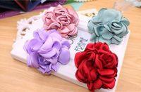 Wholesale Hair Elastics Sale - 2017 Big Rose Flower Elastics Hair Holders Rubber Bands Girls Women Kawaii Cute Tie Gum Fabric Hot Sale Headwear Accessories
