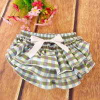 Everweekend Girls Baby Plaid Bow Ruffles PP Брюки Candy Color Vintage Корея Детская одежда Western Fashion Sweet Clothing