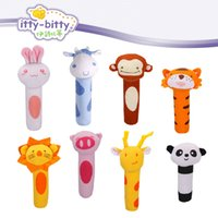 Wholesale Infant Pig - Wholesale- hot! Itty Bitty 13cm Baby Rattle Stuffed Plush Doll Toy BIBI Bar Stick pig Animal Squeaker Toys Infant Hand Puppet Enlightenment