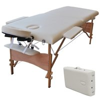 """Wholesale Facial Tables - New 84""""L Portable Massage Table Facial SPA Bed Tattoo w Free Carry Case White"""