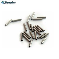 Wholesale quality components - Rompin 100pcs lot Round copper fishing pipe, fishing line pipe crimping sleeve, connecting high quality fishing line fittings