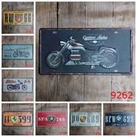 Wholesale New York Paint - Motorcycle License Plates Iron Painting Customs Rides New York Metal Tin Sign Fastway National 30X15 CM Tin Posters Antique 3 99rjH