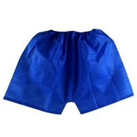Wholesale Massage Clothes - 100X Men Underwear Boxers Non-Woven Disposable Sauna Shorts Underwear Boxers Men Massage Spa Travel Clothing travel essential panties