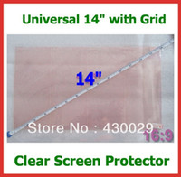 Wholesale Notebook Grid - Wholesale- 5pcs Universal Clear LCD Screen Protector with Grid 14 inch Size 310.5X176.5mm for Laptops Notebook Free Shipping