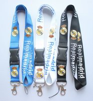 Wholesale football party favors - Wholesale 30 pcs Popular Removable football team Mobile phone Lanyard Key Chains Pendant Party Gift Favors Q-066