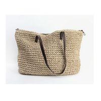 ingrosso mini sacchetti di lino-All'ingrosso-estate donna durevole tessere paglia borsa da spiaggia femminile di lino tessuto borsa secchiello erba casual tote borse a maglia in rattan borse Hobos
