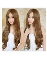 Wholesale Long Men Hair Wig - New Sexy Womens Girls WIG Fashion Style Wavy Curly Long Hair Human Full Wigs Colors 70CM The old woman old man Stage peruca Cosplay Wigs