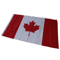 Wholesale Canadian Flags - 3*5ft Maple Banner Canadian National Flag 90*150cm Used For Festival World Cup Home Decoraiton High Quality 6qta C R
