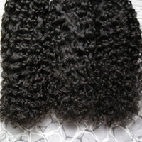 Wholesale Micro Loop Hair Extensions Mongolian - Micro Loops Natural Color afro kinky curly micro loop human hair extensions 300g mongolian kinky curly hair Micro Link Hair Extensions 300s