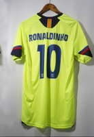 Wholesale Ronaldinho Messi retro jersey with patch