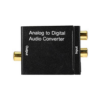Wholesale Digital Sound Converter - Free shipping Analog to Digital Signal Audio Sound Adapter ADC Converter Optical Coaxial RCA Toslink SPDIF Adaptor TV